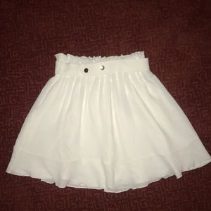 White A-lined skirt